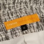 Tag of on sale pre-owned Cynthia Steffe Printed Light Coat in black and white, size M.