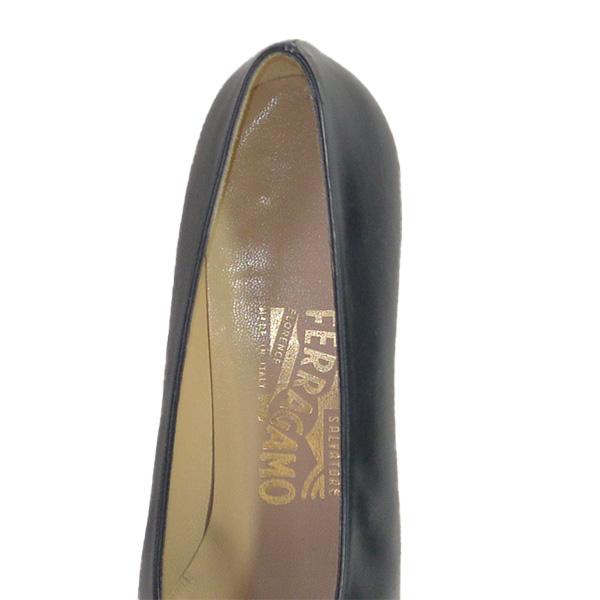 Logo of on sale pre-owned Salvatore Ferragamo Vintage Squared Toe Block Heels.