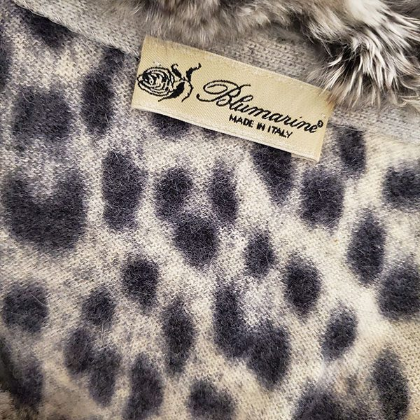 Logo of pre-owned Blumarine Animal Print Sweater.