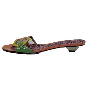Pre-owned multi-coloured Emilio Pucci Printed Slip-on Sandals.