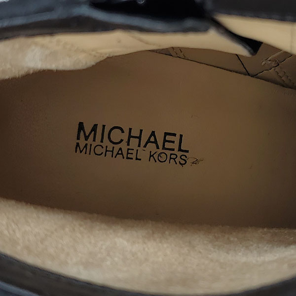 Logo of on sale pre-owned Michael Kors Suede Leather Booties.