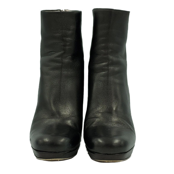 Front view of pre-owned Miu Miu Ankle Leather Booties.