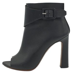 On sale pre-owned Proenza Schouler Open-toe Booties in black, with buckle details.