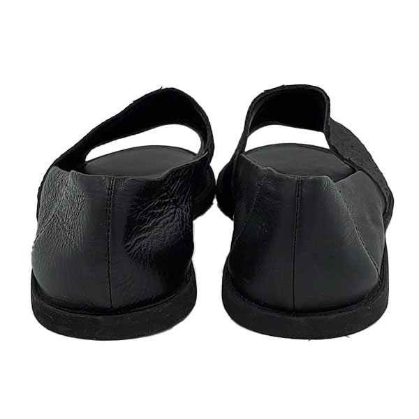 Back view of pre-owned Vince Open-toe Slip-on Sandals in black.