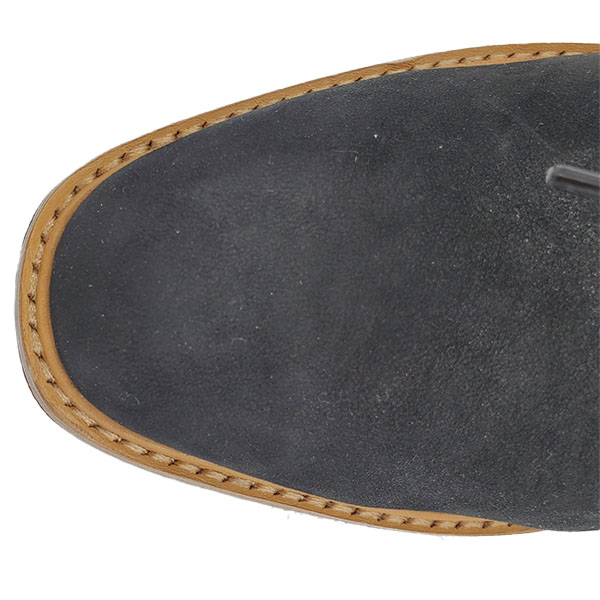 Top view of pre-owned Vince Suede Oxford Platform in black.