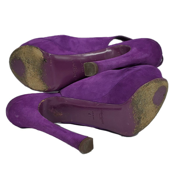 Soles of on sale pre-owned Yves Saint Laurent Peep-toe Platform Pumps.