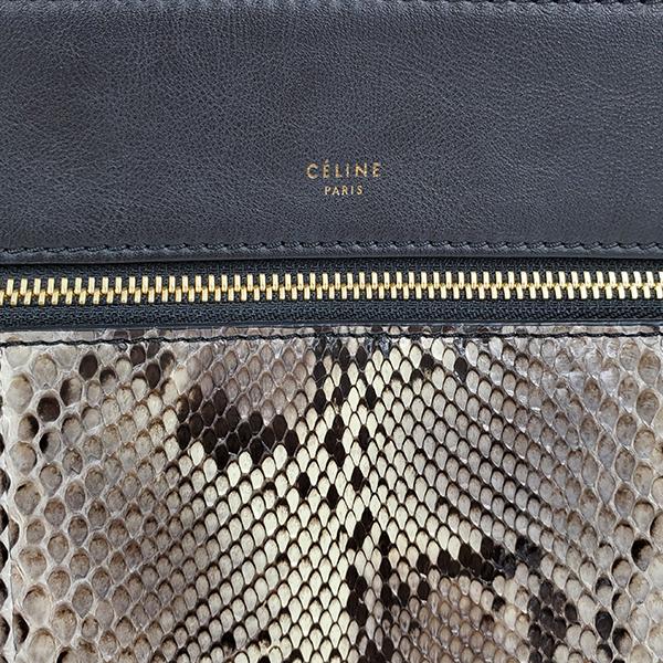 Logo of pre-owned Celine Snakeskin Edge Bag.