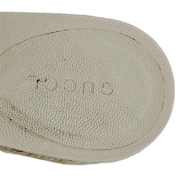 Logo of pre-owned Gucci Printed Espadrille Wedges.