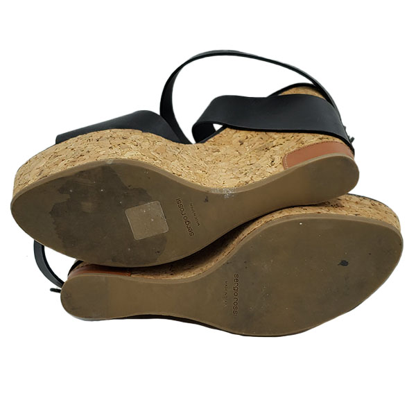 Soles of pre-owned Sergio Rossi Cork Platform Wedges.