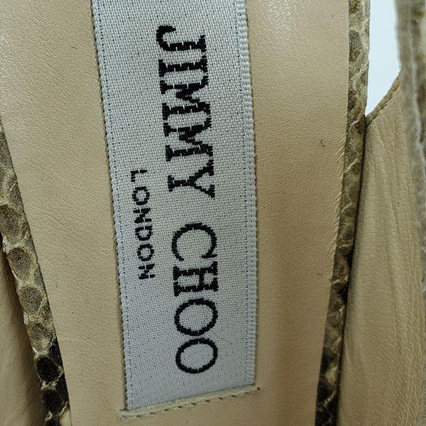Logo of pre-owned Jimmy Choo Peep-toe Slingback Sandals.