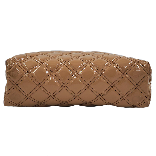 Underside of pre-owned Marc Jacob Patent Leather Quilted Single Bag.