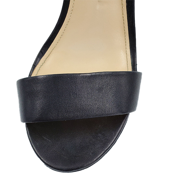 Top view of pre-owned Coach Black Jerri Wedge Sandals.