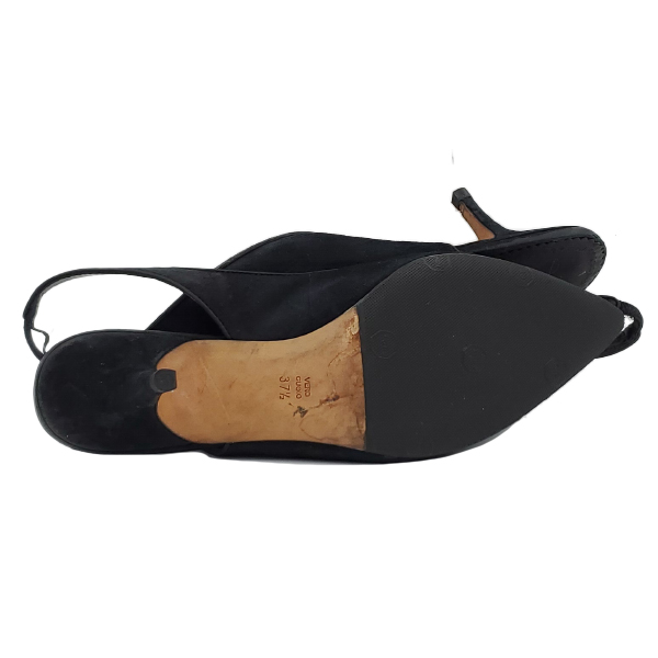 Soles of pre-owned Jean-Michael Cazabet Suede Slingback Sandals.