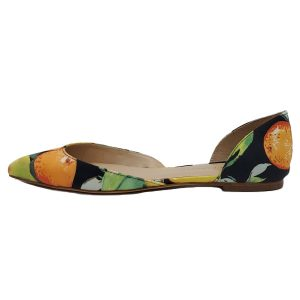 Pre-owned Loeffleo Randal Citrus Oxfords in citrus and black, with pointed toe.