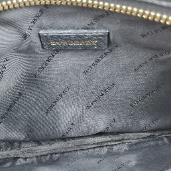 Interior of pre-owned Burberry Vintage Leather Wristlet.