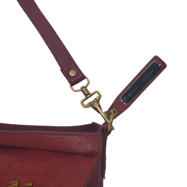Close up details of pre-owned Proenza Schouler Small Leather Crossbody Bag.