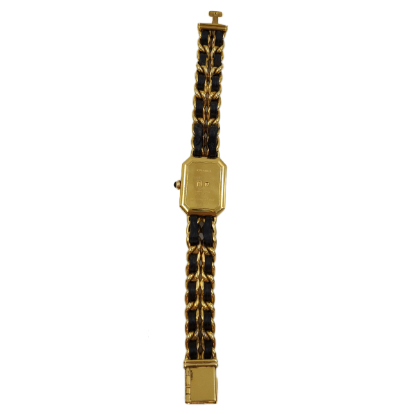 Back view of pre-owned Chanel Première Gold Plated Women's Wristwatch.