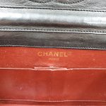 Logo of pre-owned Chanel Semi-circle Black Quilted Lambskin Leather Paris Limited Edition Shoulder Bag.