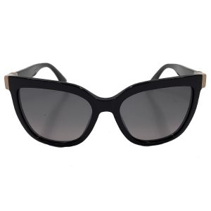 Close up front view of pre-owned Fendi Sunglasses in black.
