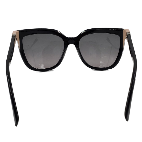 Close up back view of pre-owned Fendi Sunglasses in black.