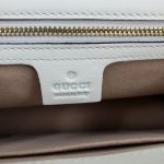 Interior of pre-owned Gucci Sylvie Small Shoulder Bag in white.