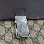 Close up details of pre-owned Gucci Vintage GG Monogram Clutch.