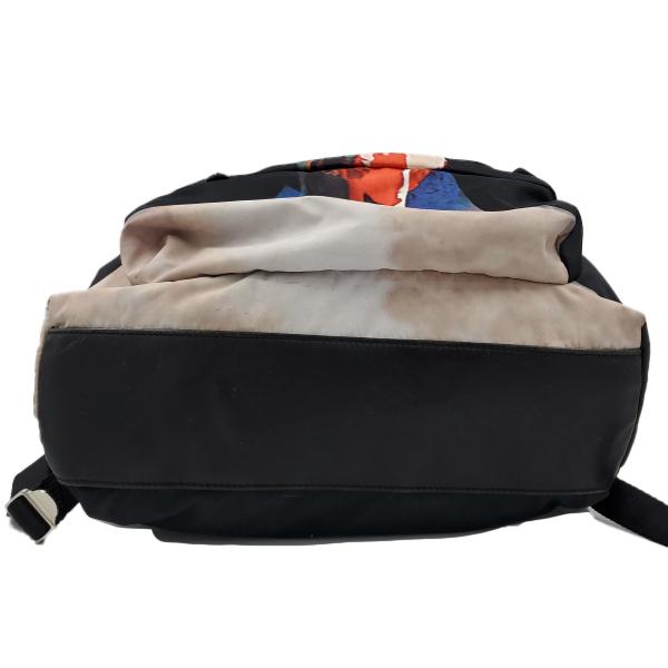 Givenchy Nylon Calfskin Bull Skull Backpack - bottom view