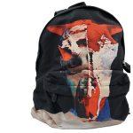 Givenchy Nylon Calfskin Bull Skull Backpack - up close