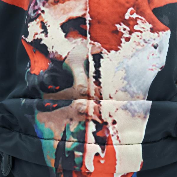 Givenchy Nylon Calfskin Bull Skull Backpack - upclose bull front view
