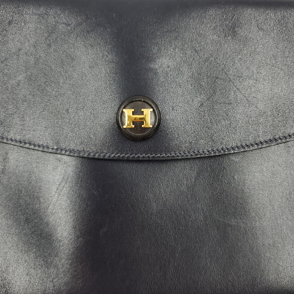 Hermes Vintage Envelope Clutch Flap Bag - hermes logo