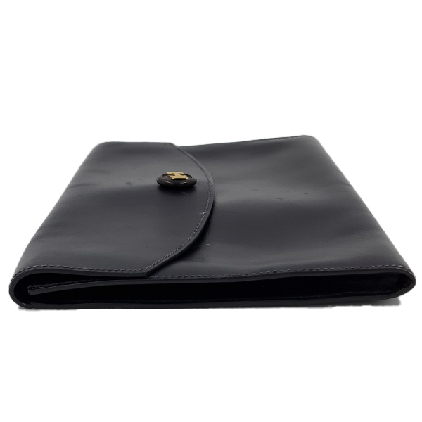 Hermes Vintage Envelope Clutch Flap Bag - left side