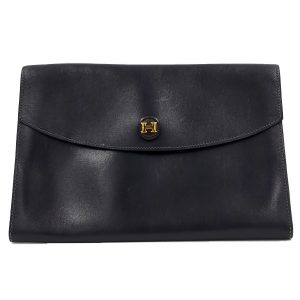 Hermes Vintage Envelope Clutch Flap Bag - main