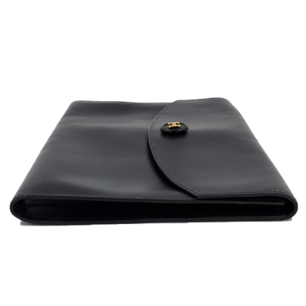Hermes Vintage Envelope Clutch Flap Bag - right side