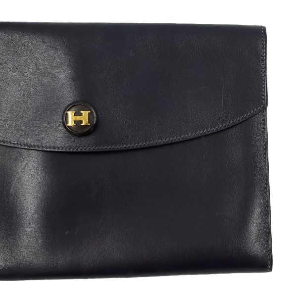 Hermes Vintage Envelope Clutch Flap Bag - up close right