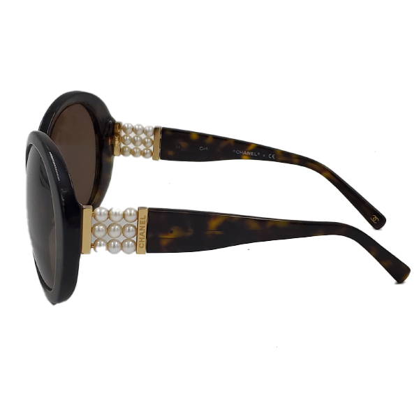 Chanel 5159-H Pearl Round Sunglasses - side 2