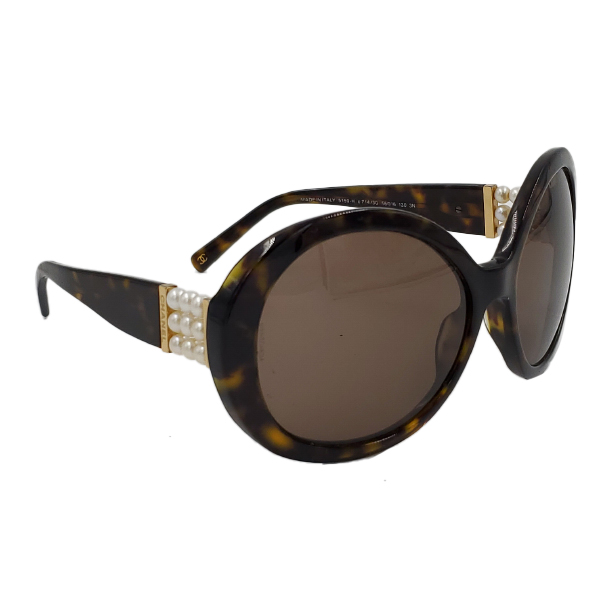 Chanel 5159-H Pearl Round Sunglasses - side 4