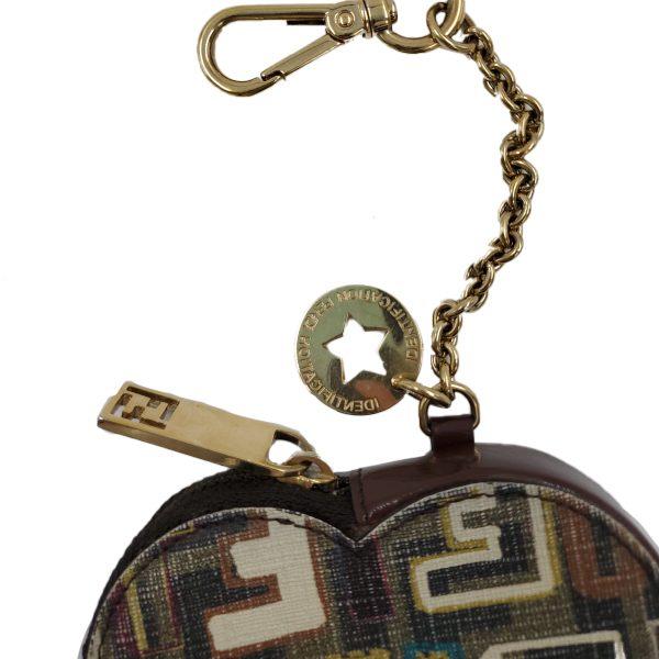 Fendi Coin Case Key Ring Charm Heart Holder - hardware