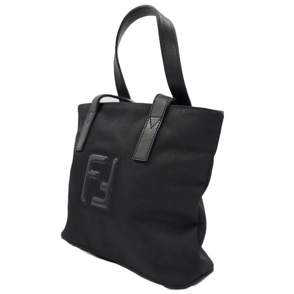 Fendi Nylon Handbag - side