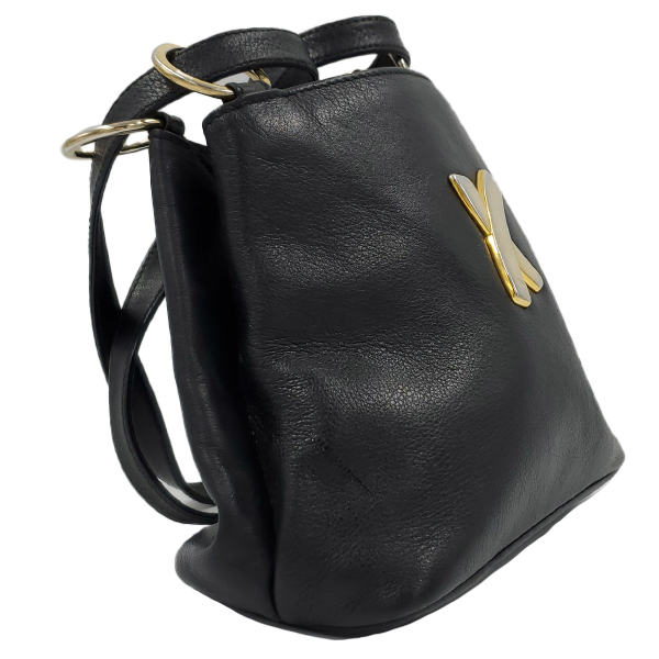 Paloma Picasso Vintage Leather Shoulder Bag - left side