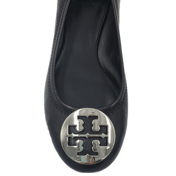 Tory Burch Ballet Leather Flat - close up toe