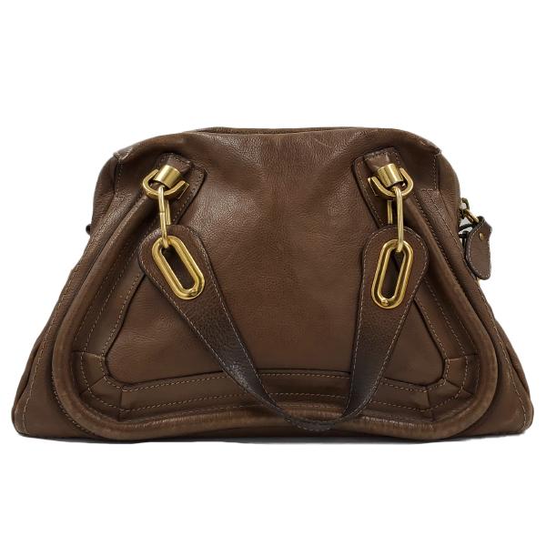 Chloe Paraty Satchel Leather Bag - back