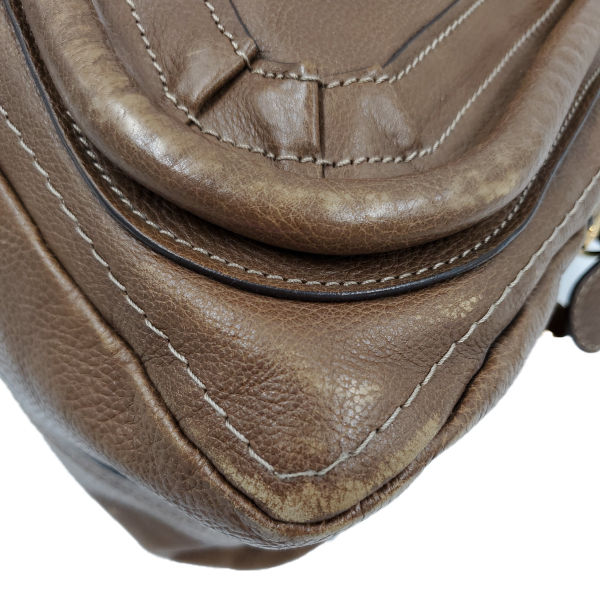 Chloe Paraty Satchel Leather Bag - right corner