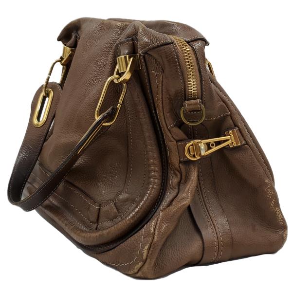 Chloe Paraty Satchel Leather Bag - side