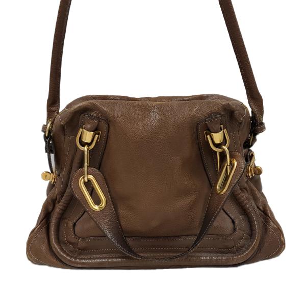 Chloe Paraty Satchel Leather Bag - strap up