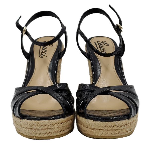 Gucci Vernice Microguccissima Wedges - front view