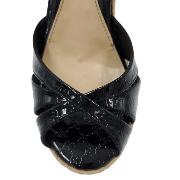 Gucci Vernice Microguccissima Wedges - toe