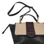 Marc by Marc Jacob Colourblock Satchel Bag - close up strap